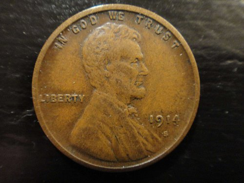 1914-S Lincoln Cent Extra Fine-40 Darker Chocolate with Lots of Eye Appeal!