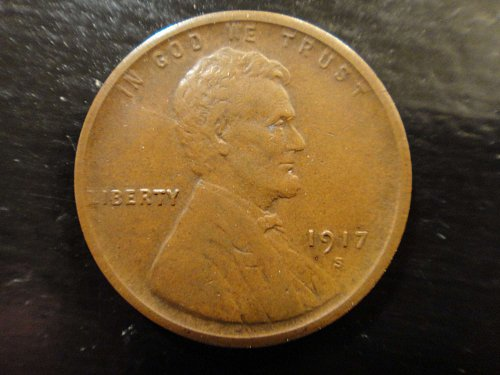 1917-S Lincoln Cent Extra Fine-40 Milk Choclate Brown with Lots of Eye Appeal!