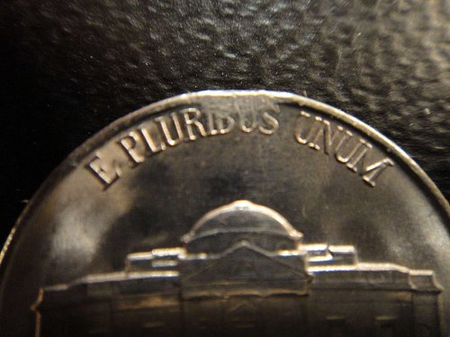 1940-S Jefferson Nickel MS-63 ERROR: Clipped Planchet 12:00 o'clock Reverse!