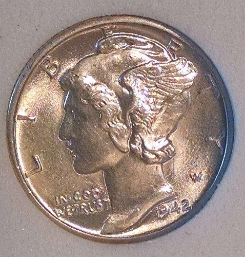 1942 D Mercury Dime MS 64
