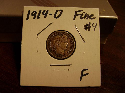 1914-D F Fine Barber Dime #4 Free Shipping