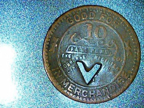 Brookside-Pratt Mining Co. Merchandise Token-copper round-Vintage Alabama