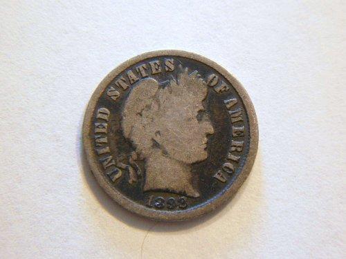 1898-P Silver Barber Dime
