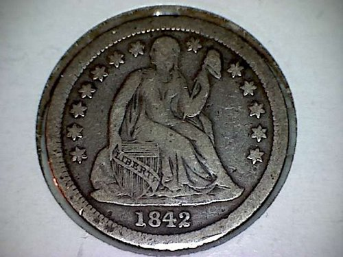 1842 Seated Liberty Dime