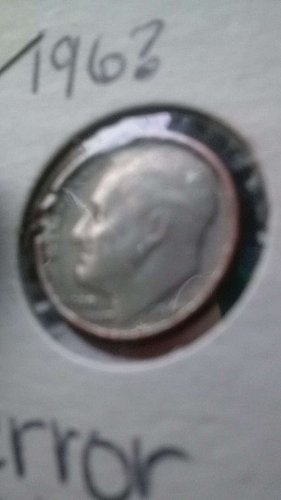 1965 error dime wide copper rim clipped plachet valued at $2000 by us mint