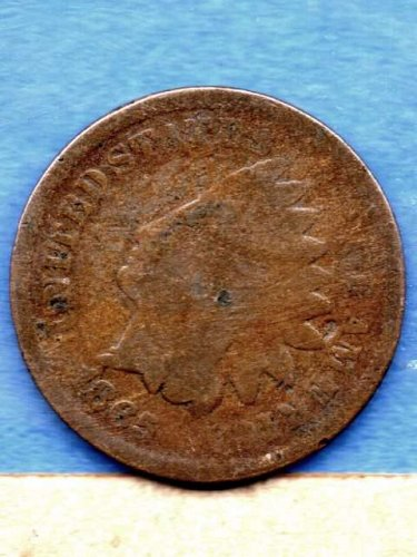 1865 Indian Head Penny Genuine Natural US Coin Money