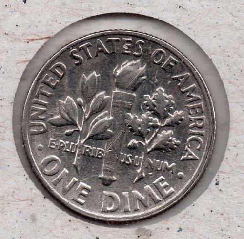 1968d Roosevelt Dime - #3 - Double Strike -