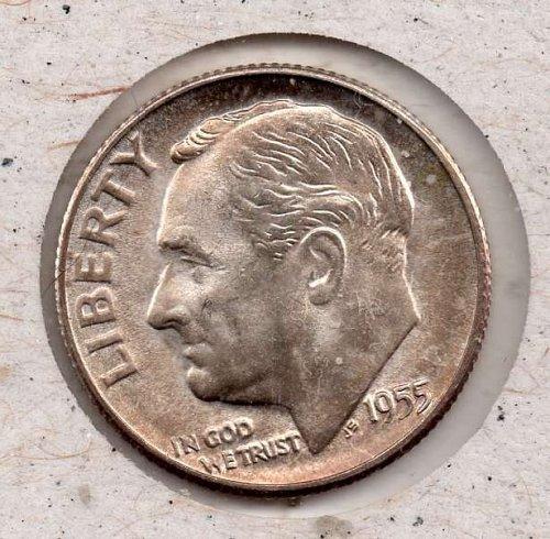 1955s BU Roosevelt Dime - #5