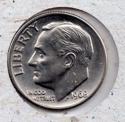 1968p BU Roosevelt Dime - #5