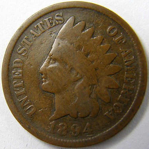 1894 P Indian Head Cent #2