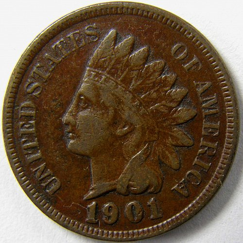 1901 P Indian Head Cent #2
