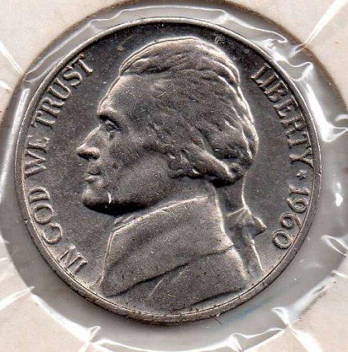1960p Jefferson Nickel #5