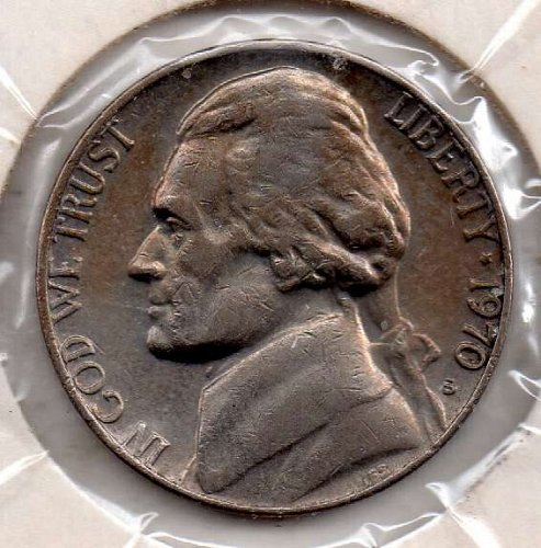 1970s Jeferson Nickel #5
