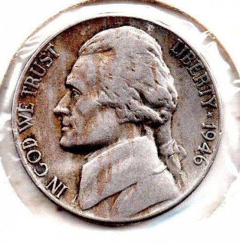 1946p Jefferson Nickel #5