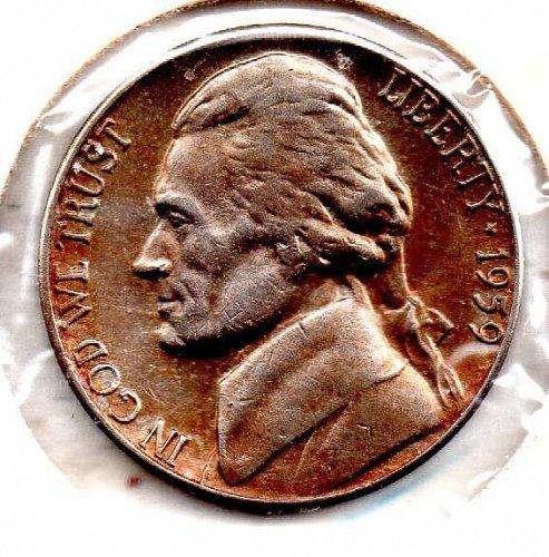 1959d Jefferson Nickel #5