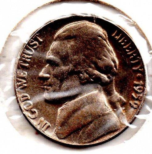 1959p Jefferson Nickel #5