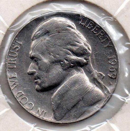 1969s Jefferson Nickel #5