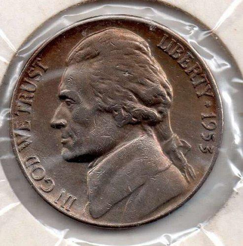1953d Jefferson Nickel #5