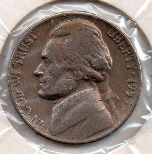 1953p Jefferson Nickel #5