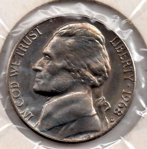 1968d Jeffersn Nickel #5