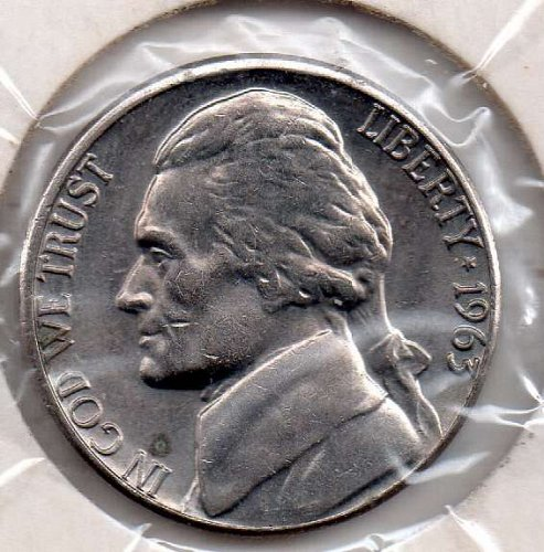 1963d Jefferson Nickel #5