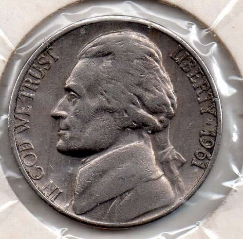 1961d Jefferson Nickel #5
