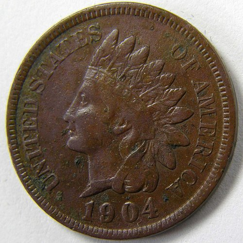 1904 P Indian Head Cent #3