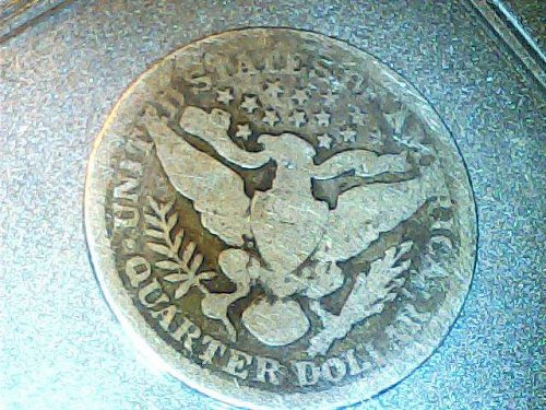 Barber .25 cent silver coin-1898