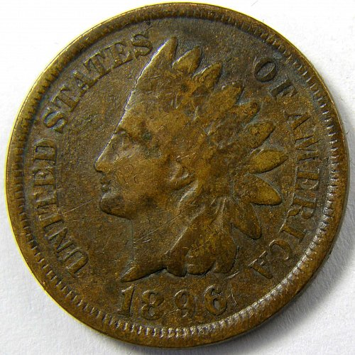 1896 P Indian Head Cent #7