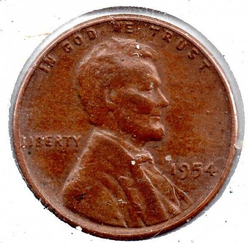 1954p Lincoln Wheat Cent #3