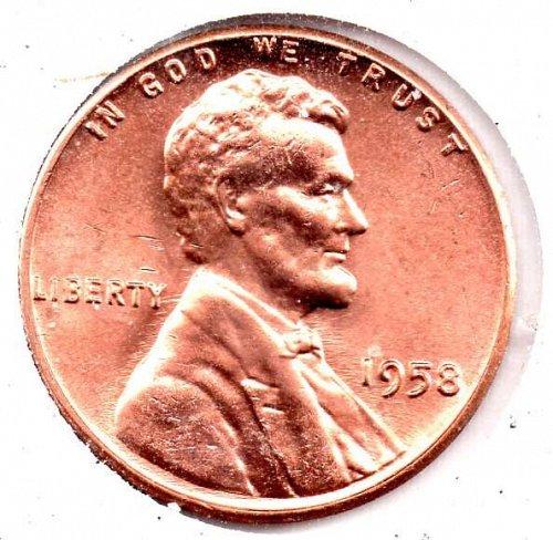 1958p UNC Lincoln Wheat cent #3