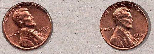 1958pd UNC Lincoln Wheat Cent #4