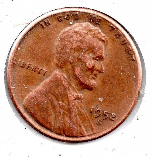1952s Lincoln Wheat Cent #3