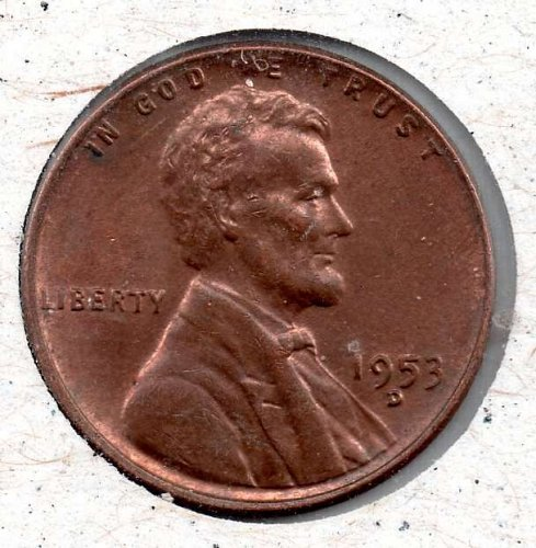 1953d Lincoln Wheat Cent #3