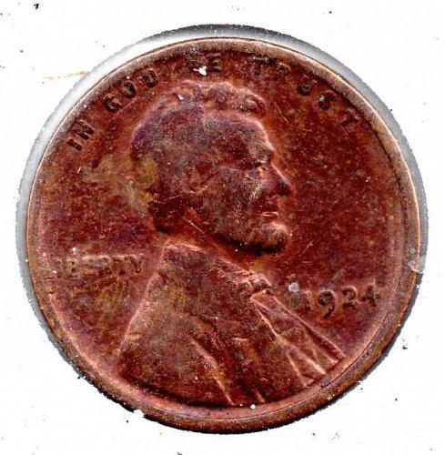 1924p Lincoln Wheat Cent #4
