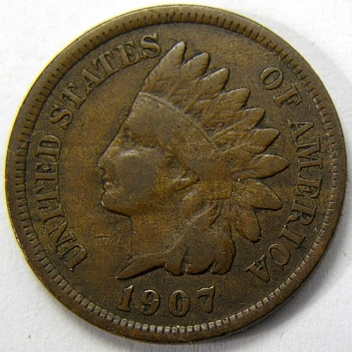 1907 P Indian Head Cent #5