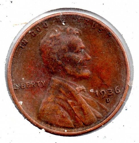 1936d Lincoln Wheat Cent #4