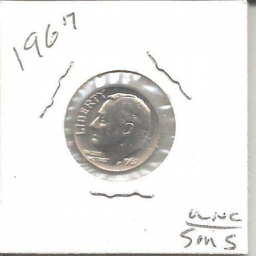 1967  SMS  ROOSEVELT DIME