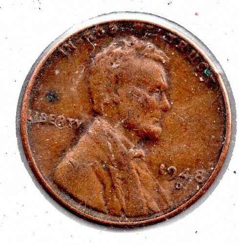 1948d Lincoln Wheat Cent #3
