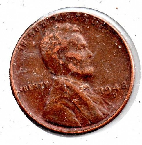 1948d Lincoln Wheat Cent #4