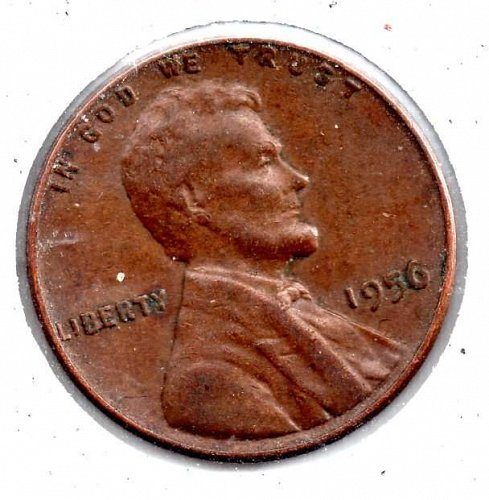 1956p Lincoln Wheat Cent #3