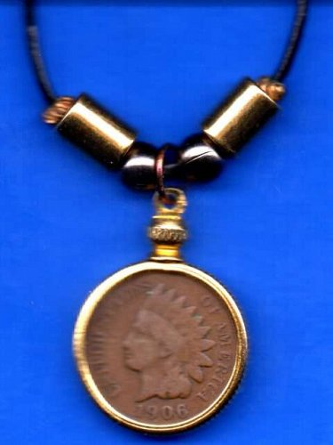 "22""  Penny size coin necklace"