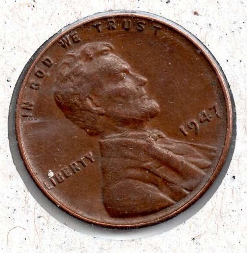 1947p Lincoln Wheat Cent #4