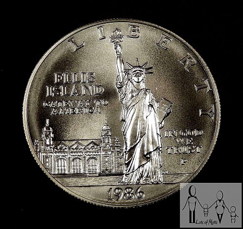 1986 P Statue of Liberty 90% Silver Dollar uncirculated in capsule only No COA