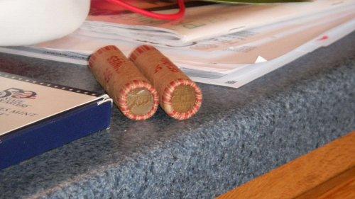 2 wheat penny rolls