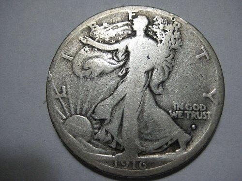 1916 D Walking Liberty half dollar