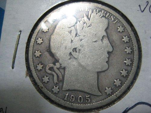 1905 O Barber Half Dollar