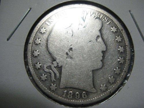 1896 P Barber Half Dollar