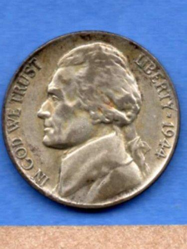 1944 P Jefferson Silver War Nickel Genuine Natural US Coin Money