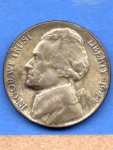1944 P Jefferson Silver War Nickel Natural Genuine US Coin Money
